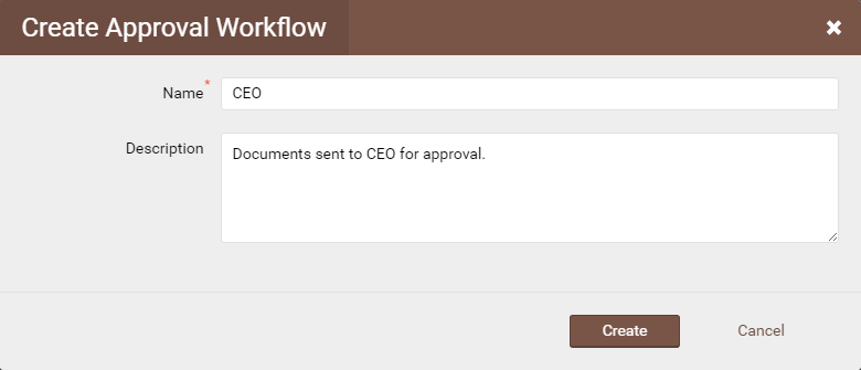 Create approval workflows
