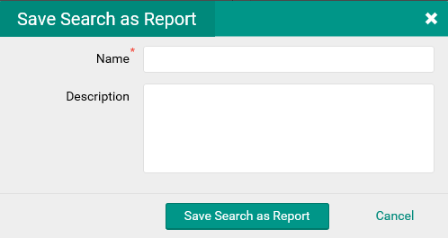 save search as Report